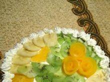 Tort śmietanowy z brzoskwiniami,ananasem