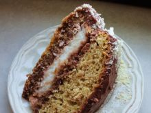 Tort snickers z kokosem