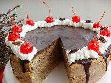 Tort straciatella z masą czekoladową i bakaliami