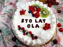 Tort uniwersalny z malinową nutą
