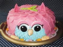 Tort urodzinowy sowa