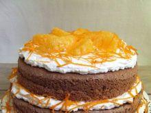 Tort warstwowy piernikowo-pomarańczowy