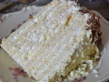 Tort wielowarstwowy z kremem śmietanowym- Marcinek