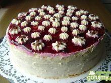 Tort z konfiturą wiśniową