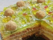 Tort z kremem jabłkowym 3-Di