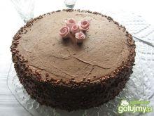 Tort z lekkim kremem czekoladowym