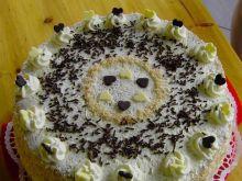 Tort  z malinkami
