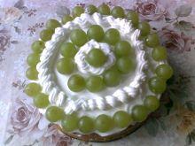 Tort z mascarpone i musem brzoskwiniowym