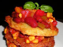 Tort ziemniaczany z sosem meksykańskim