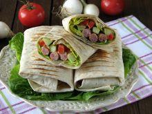 Tortilla z kabanosami