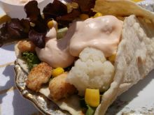 Tortilla z kurczakiem i kalafiorem