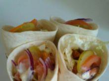 Tortilla z kurczakiem i warzywami 3