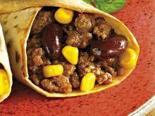 Tortilla z mięsem i fasolą