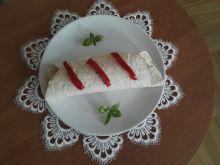 Tortilla z pieczarkami, papryką i szynką