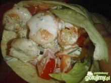 Tortilla z sezamowymi krewetkami