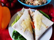 Tortilla zapiekana z tunczykiem