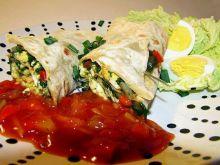Tortilla ze szpinakiem i jajkiem