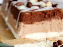 Trój czekoladowe ciasto z serka mascarpone