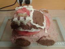 Truskawkowa straż pożarna - tort