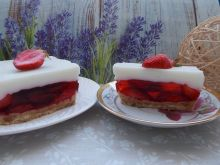 Truskawkowe ciasto na zimno