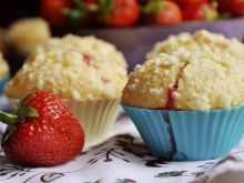 Truskawkowe muffiny