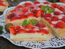 Truskawkowo-budyniowa tarta
