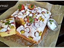 Truskawkowo - rabarbarowy kefirowiec