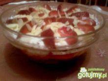 truskawkowy deser z migdałami