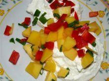 Twarożek z mango i papryką