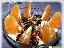 Twarożek z pomarańczą i bakaliami