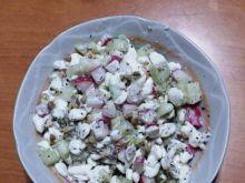 Twarożek ziarnisty z warzywami i kiełkami