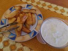 Tzatziki z pieczonymi ziemniakami
