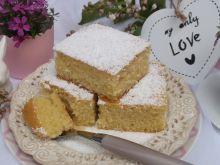 Ucierane ciasto jogurtowo - pomarańczowe