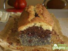 Ucierane ciasto trzykolorowe
