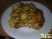 Udka kurczaka z pieczarkami i pomarańczą