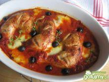 Udka kurczaka zapiekane w pomidorach