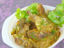Udka z kurczaka w majonezie z rękawa