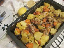 Udka pieczone z ziemniakami w cytrynie