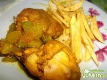 Udka w curry z cukinią