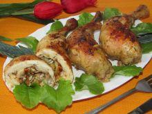 Udka z kurczaka faszerowane porem i słonecznikiem