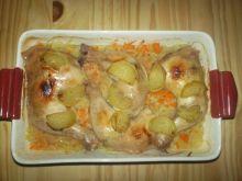 Udka z kurczaka na kapuście kiszonej
