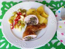 Udka z kurczaka nadziewane opieńkami