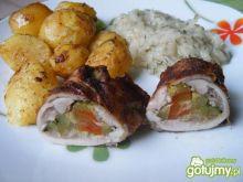 Udka z kurczaka nadziewane papryką