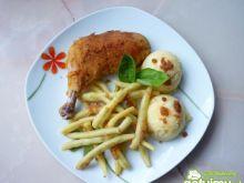 Udka z kurczaka panierowane w płatkach