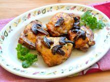 Udka z kurczaka pieczone z pieczarkami