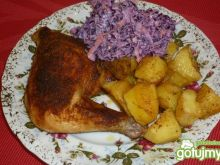 Udka z kurczaka pieczone z ziemniaczkami