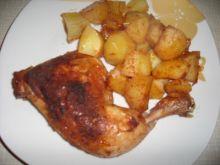 Udka z kurczaka pieczone z ziemniakami