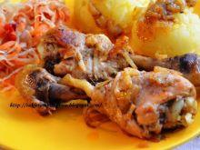 Udka z kurczaka po rosołowe duszone