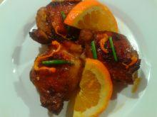 Udka z kurczaka w pomarańczach