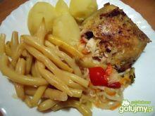 Udka z kurczaka z fasolką i ziemniakami